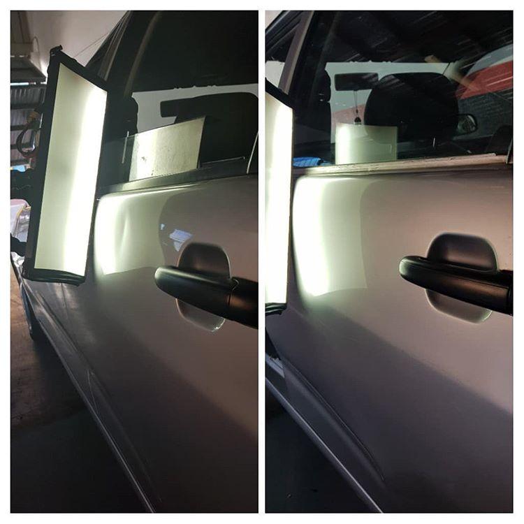 Menghilangkan Penyok Pada Bagian Mobil, sumber ig mauro_dentfix_removal